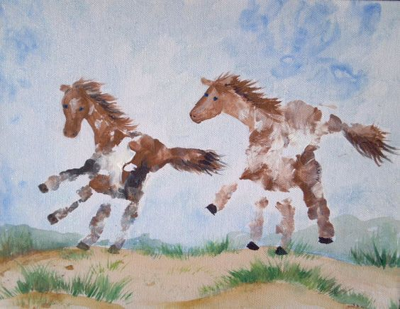 Horse Handprint Art...these are the BEST Hand & Footprint Ideas!