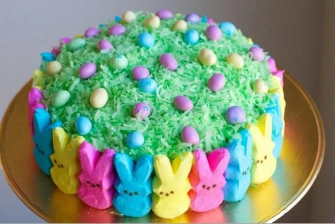 Easter Peeps Cake