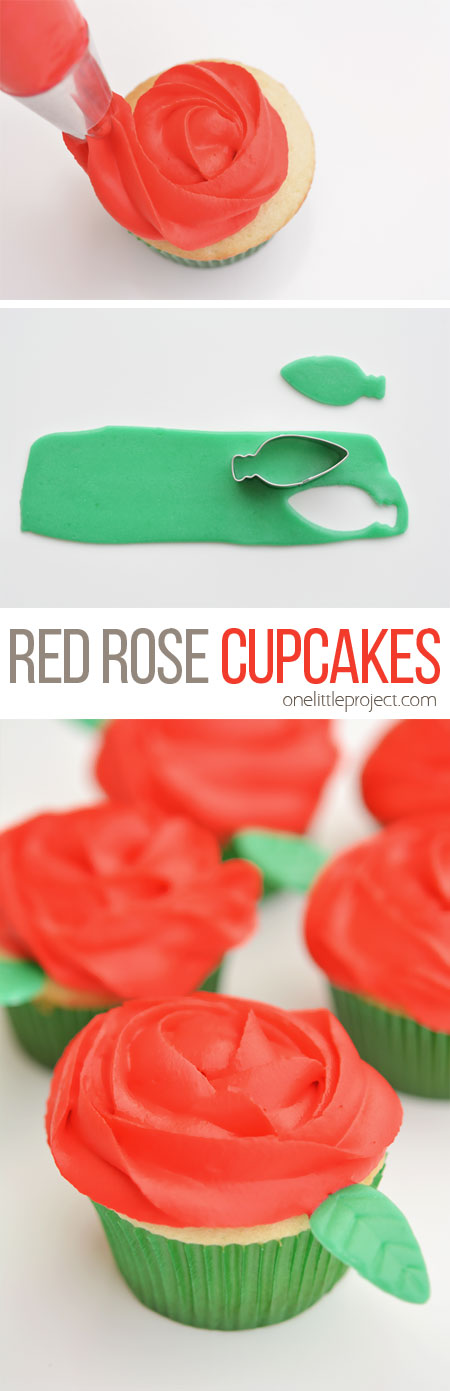Easy Red Rose Cupcakes for Valentine's Day!