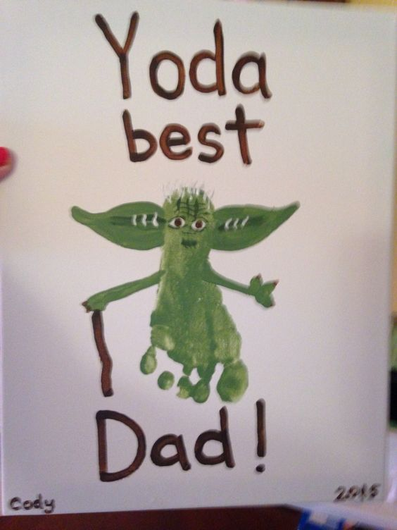 Yoda Best Dad Father's Day Footprint Art