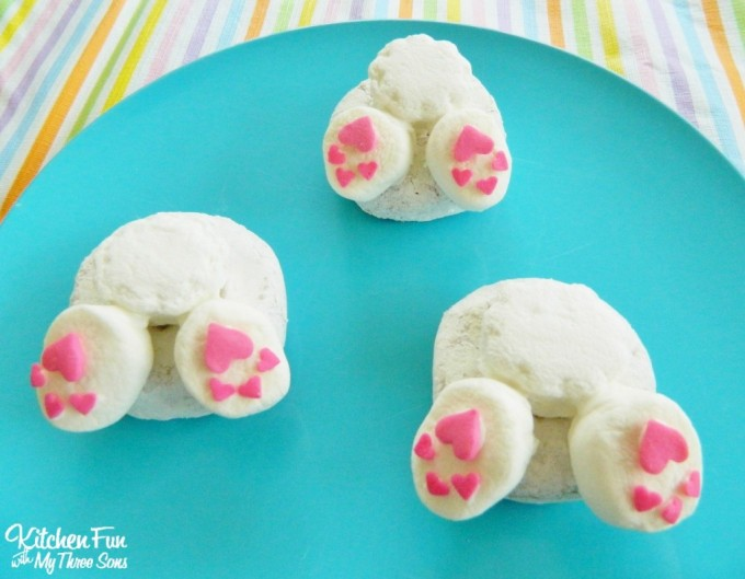 Easy Bunny Butt Donuts for Easter from KitchenFunWithMy3Sons.com