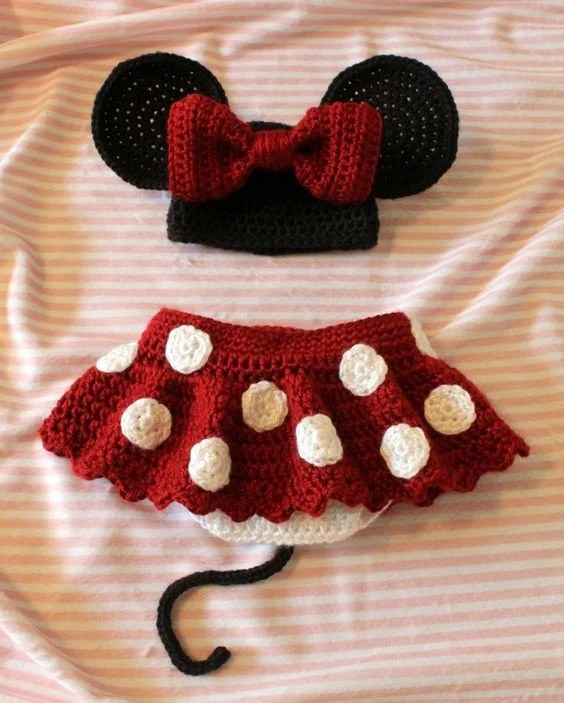 Crochet Mickey Mouse Baby Outfit
