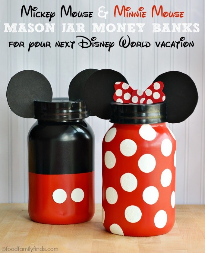 DI Y Mickey & Minnie Mouse Banks