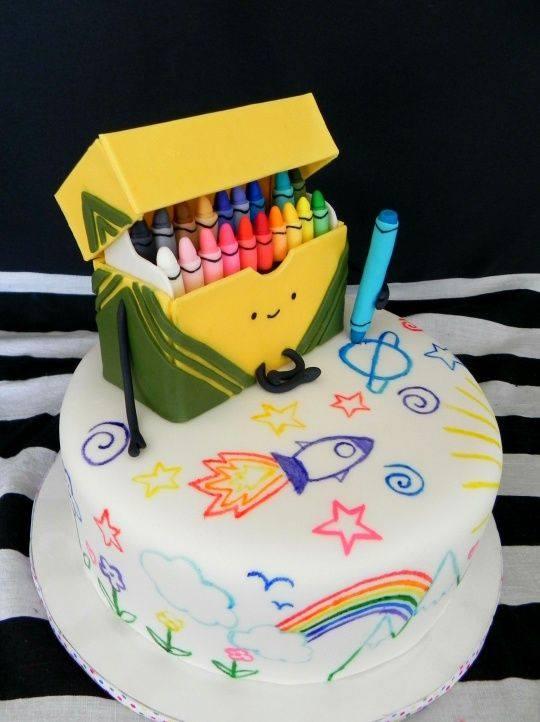 Crayon Cake