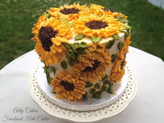 Sunflower Cake...these are the BEST Cake Ideas!