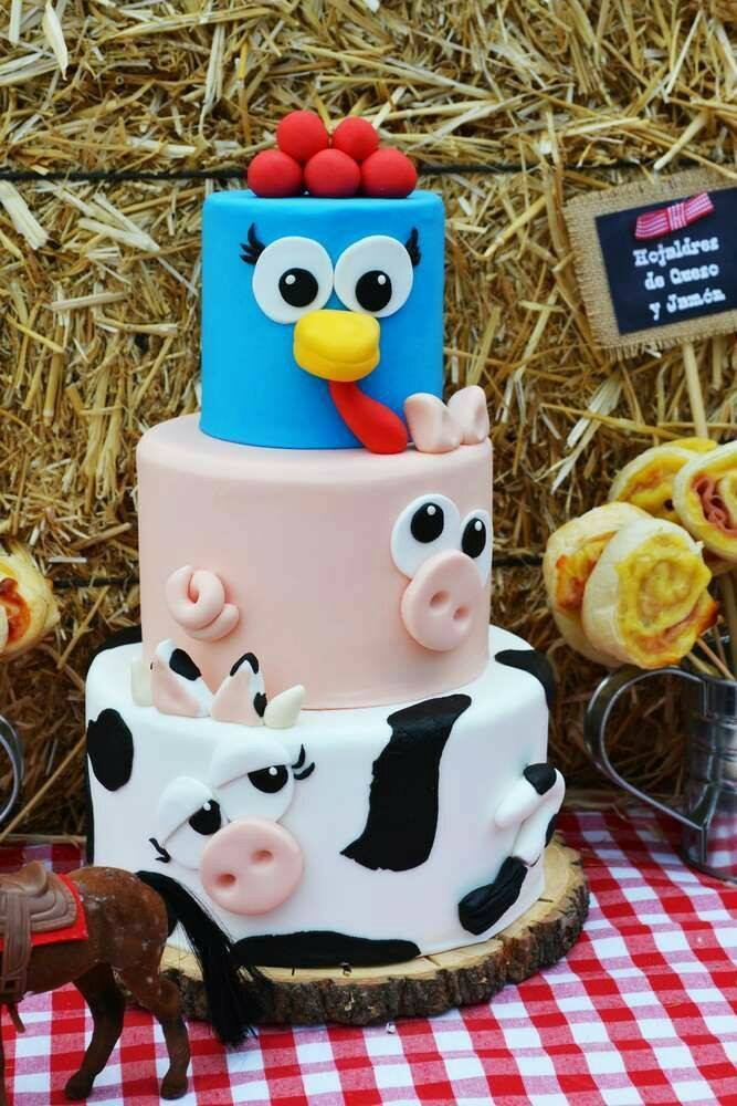 Farm Animal Cake...these are the BEST Cake Ideas!
