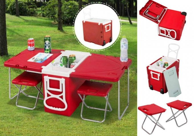 Multi Function Cooler with a Table & Chairs...great Camping idea!