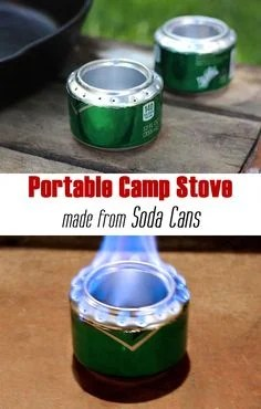DIY Portable Camp Stove made from a Soda Can for Camping Trips!