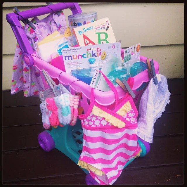 Shopping Cart Gift...these are the BEST Baby Shower Gift Ideas!