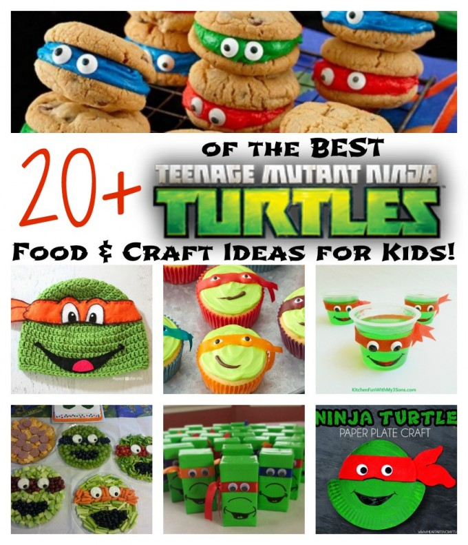 The BEST TMNT Food & Craft Ideas for Kids...your little Teenage Mutant Ninja Turtle fans will LOVE these!