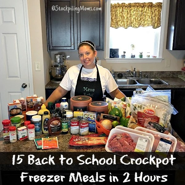 Back to School Crockpot Freezer Meals