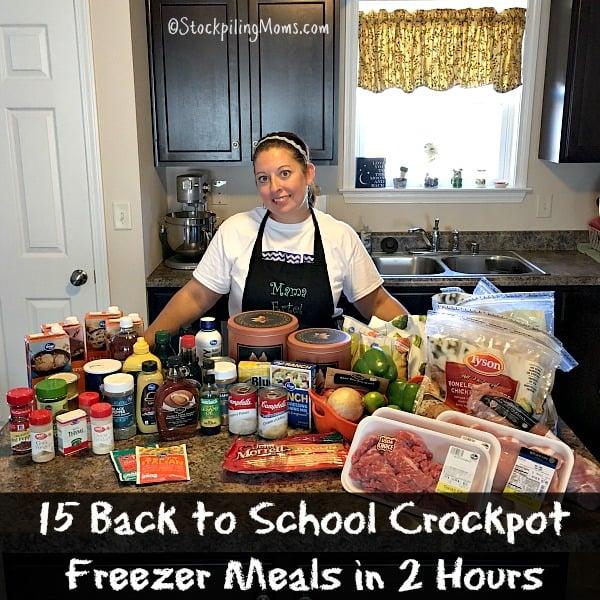 Back to School Crockpot Freezer Meals