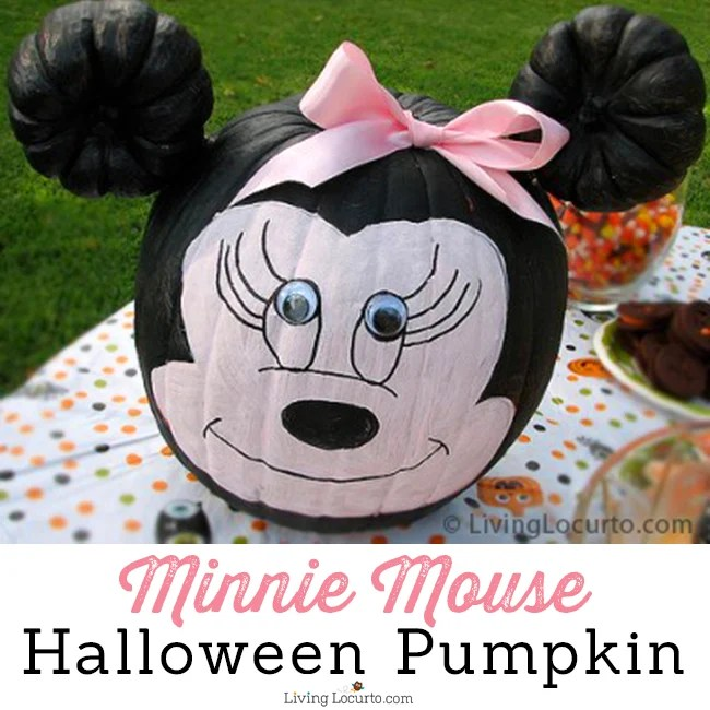 Mini Mouse Pumpkin....these are the BEST Decorated & Carved Halloween Pumpkin Ideas!