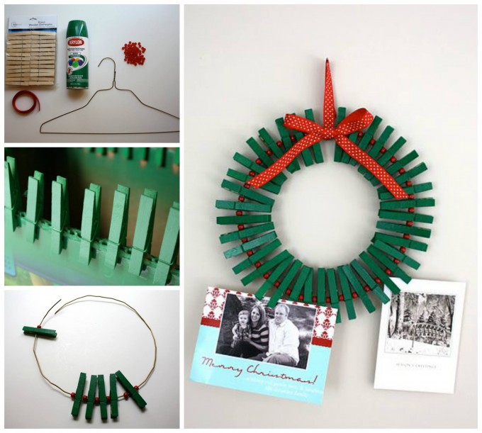 Easy Christmas Card Holder