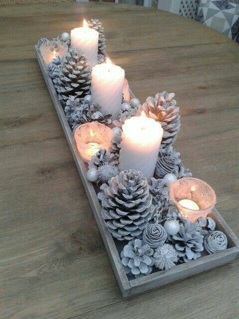 Holiday Pine Cone Centerpiece