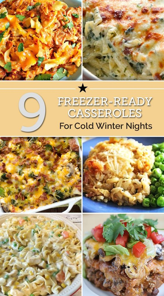 9 Freezer-Ready Casseroles for Cold Winter Nights...100's of the BEST Freezer Meals!