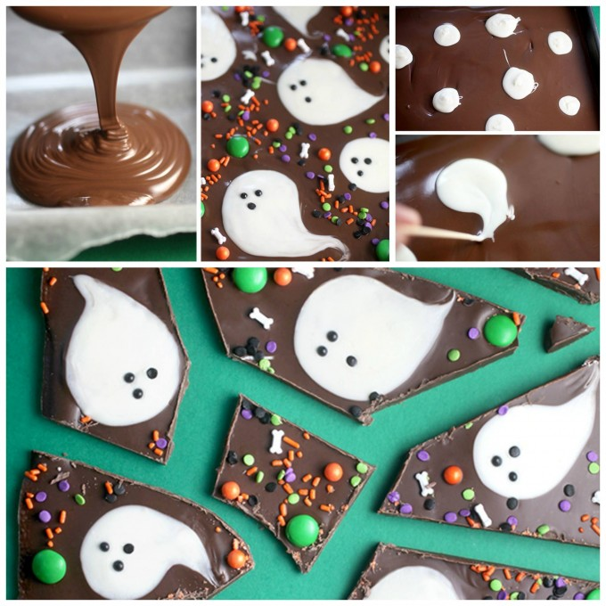 Chocolate Boo Bark...these are the BEST Halloween Treats & Dessert Ideas for Parties & Kids!