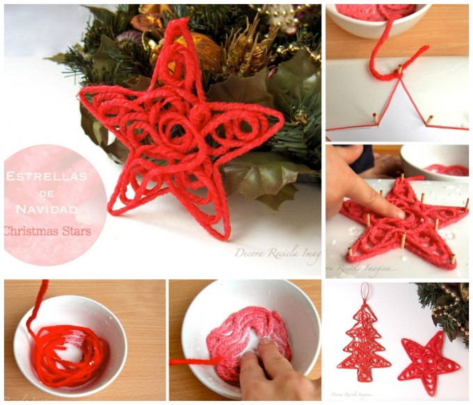 DIY Yarn Ornaments...these are the BEST Homemade Christmas Ornaments!
