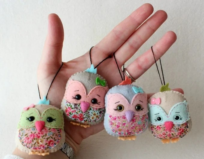 DIY Owl Felt Ornaments...these are the BEST Homemade Ornament Ideas for Christmas!