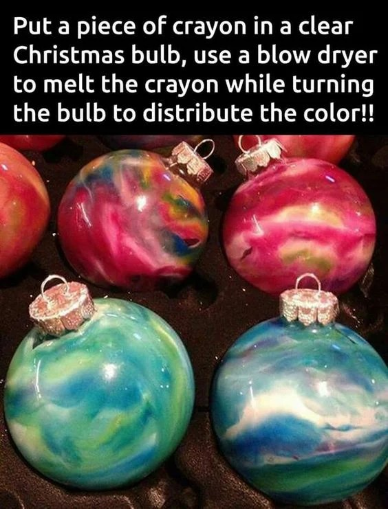 DIY Crayon Ornaments....these are the BEST Homemade Ornament Ideas!