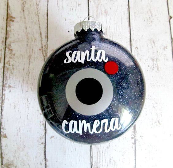 Santa Camera Ornament...these are the BEST Christmas Ornament Ideas!