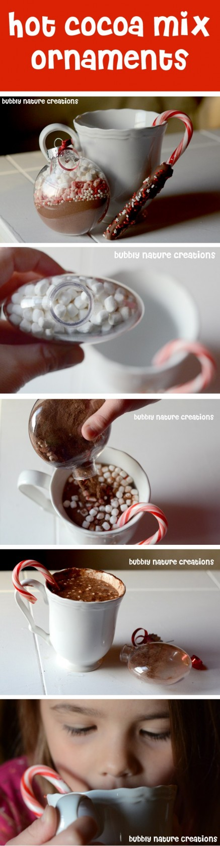 Hot Cocoa Mix Ornaments...these are the BEST Christmas Ornament Ideas!
