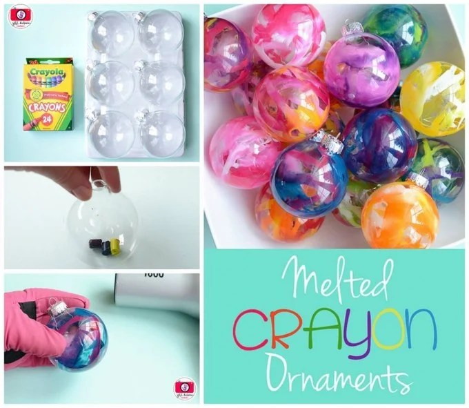 Melted Crayon Ornaments...these are the BEST DIY Homemade Christmas Ornaments!