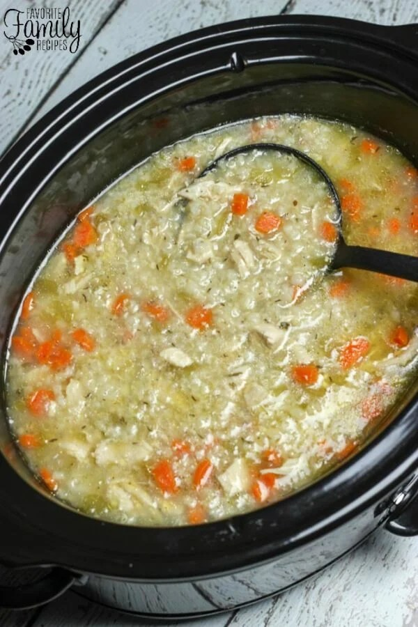 Slow Cooker Chicken and Rice Soup...these are the BEST Comfort Food Recipes!
