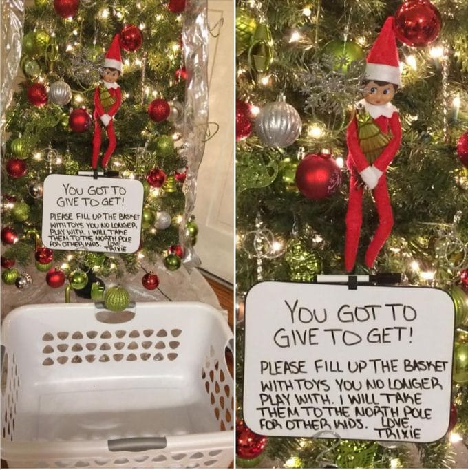 Give to Get - Elf on the Shelf