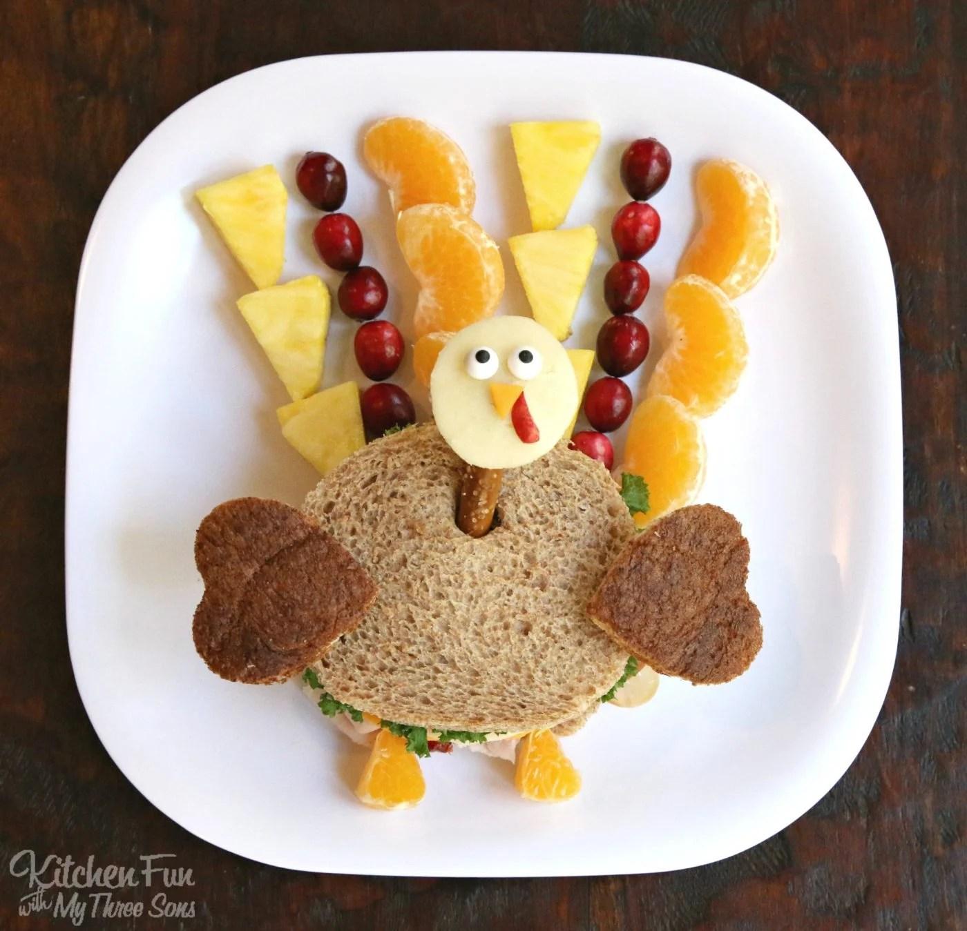 Thanksgiving Turkey Kids Lunch