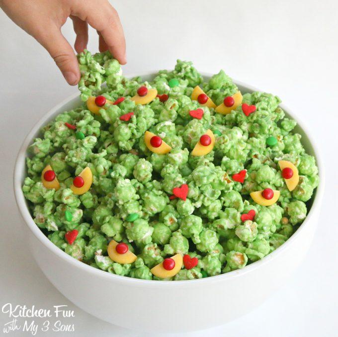 Christmas Grinch Popcorn