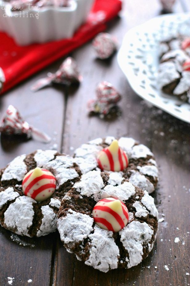 Chocolate Peppermint Blossoms...these are the BEST Christmas Cookie Recipes!