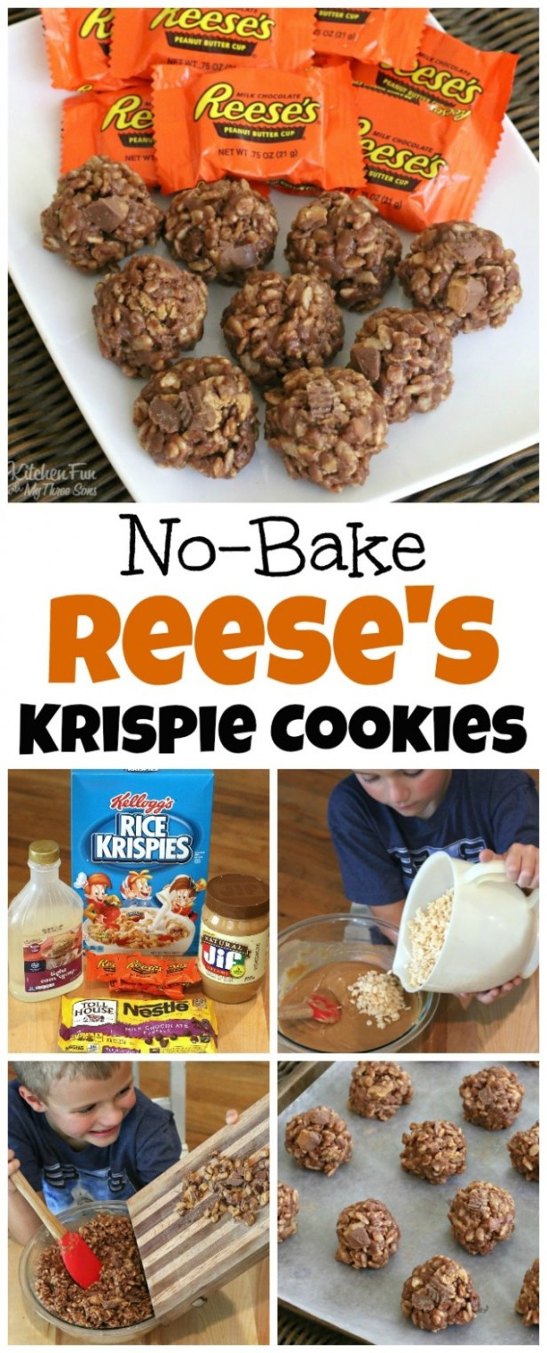 No Bake Reese's Krispie Cookies....these are the BEST Christmas Cookie Recipes!