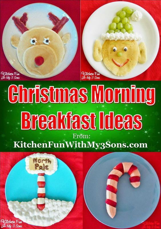 Christmas morning pancakes and breakfast ideas for Kids!