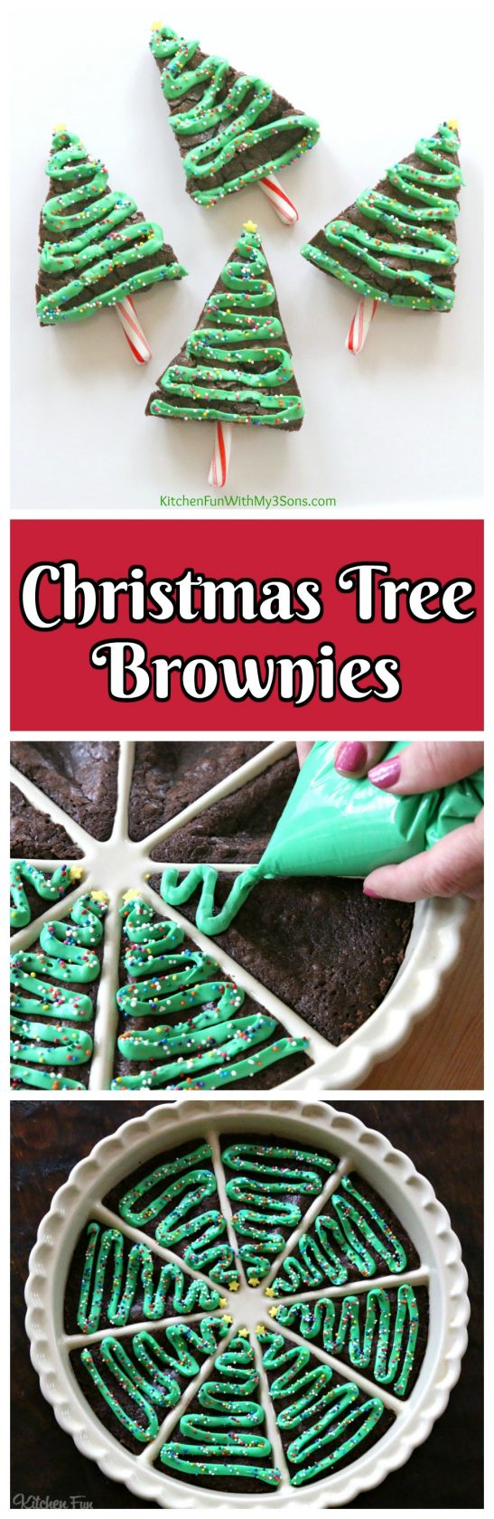 Christmas Tree Brownies...these are the BEST Christmas Treats!