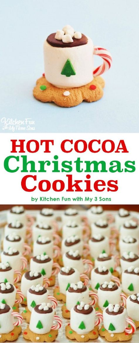 Hot Cocoa Christmas Cookies...these are the BEST Christmas Treats!