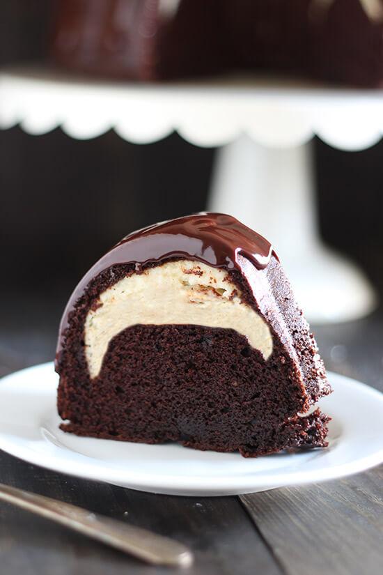 Salted Caramel Chocolate Pudding Cake