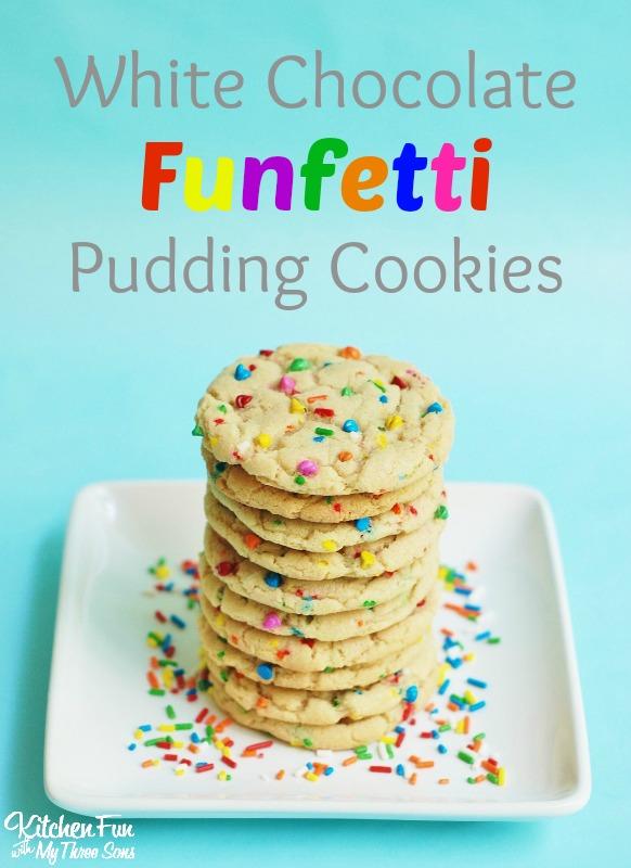 White Chocolate Funfetti Pudding Cookies