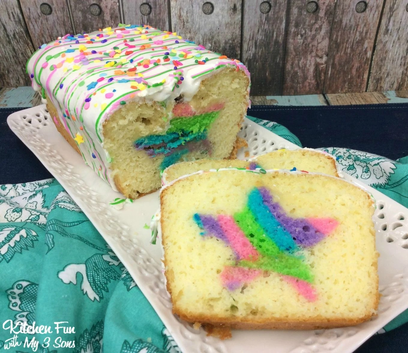 Rainbow Surprise Loaf Cake