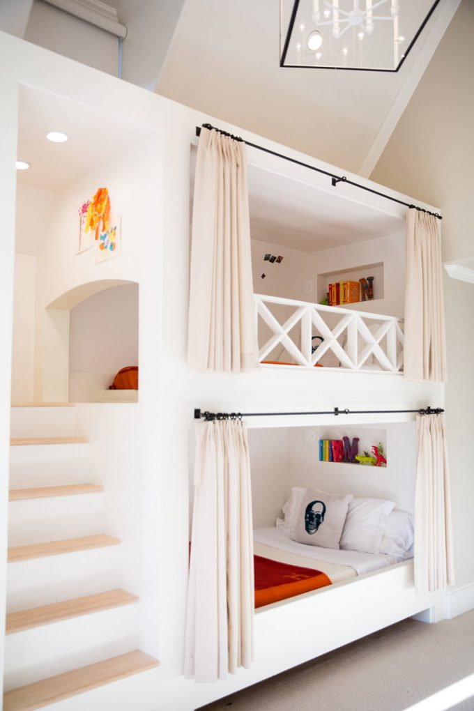 Curtain Bunk Beds...these are the BEST Bunk Bed Ideas!