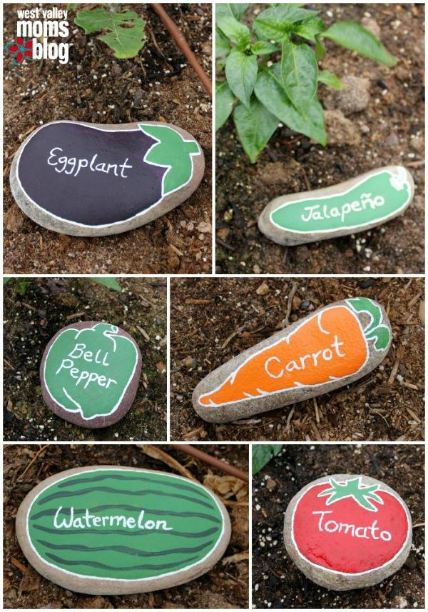 Garden Markers....these are the BEST Rock Painting Ideas!