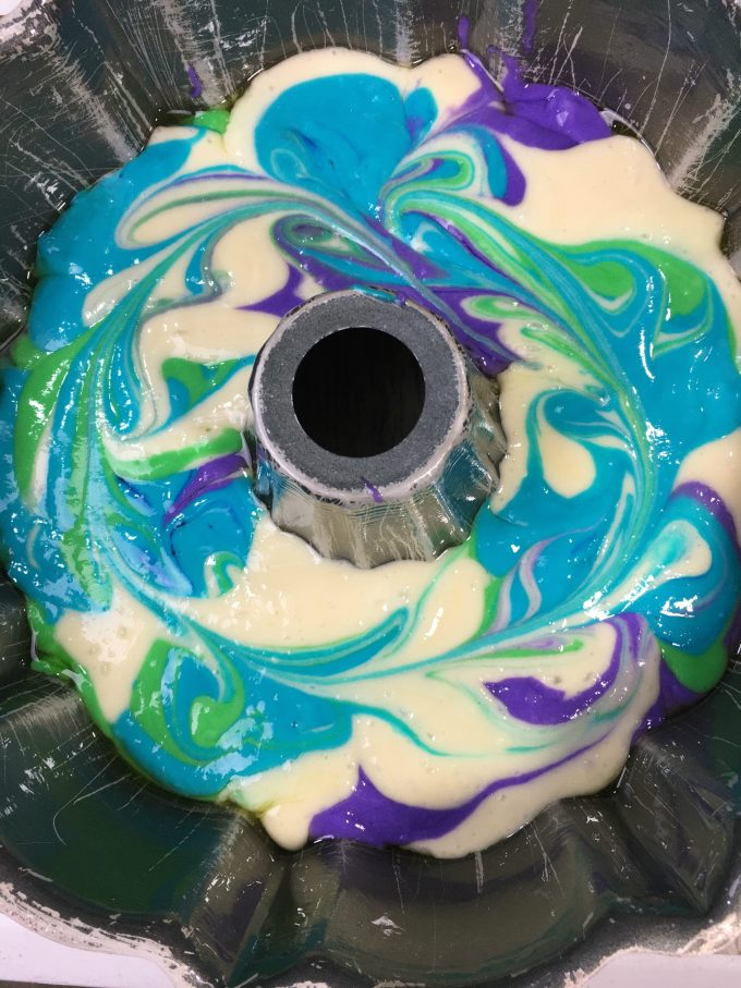 Unicorn Poop Bundt Cake...this rainbow cake recipe is so fun & easy to make for the Kids!