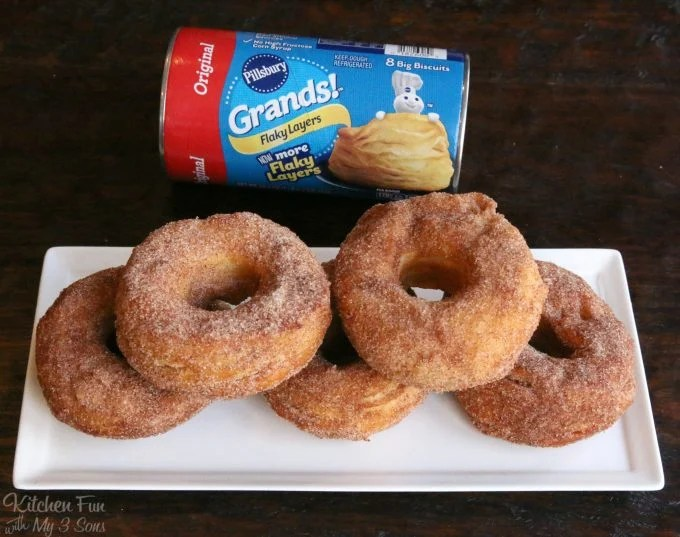 Easy Canned Biscuit Donuts.