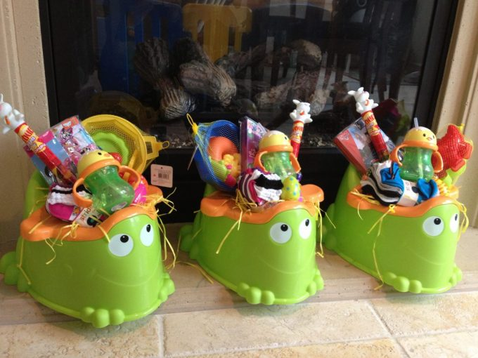 Potty Seat Easter Baskets...these are the BEST Easter Basket Ideas!