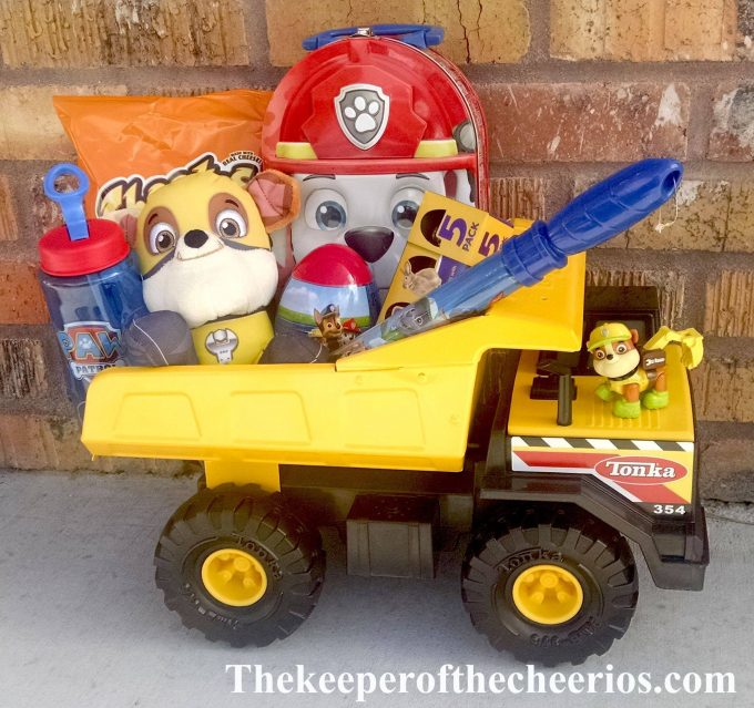 Paw Patrol Easter Basket...these are the BEST Easter Basket Ideas!