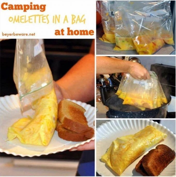 No-mess Omelet in a Bag...these are the BEST Camping Recipes!