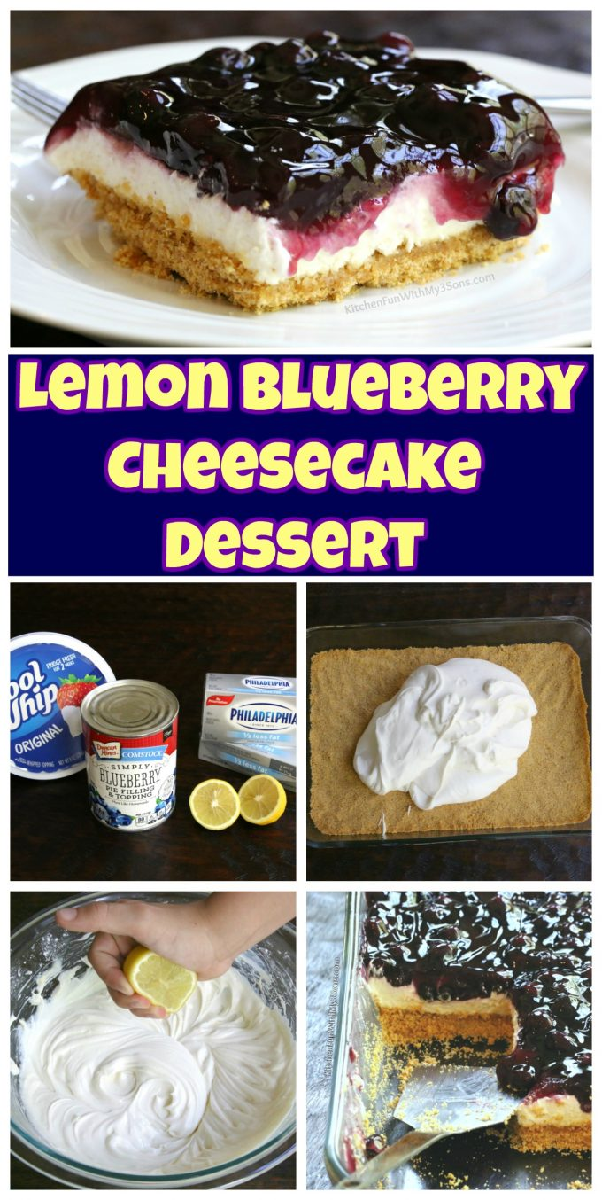 Lemon Blueberry Cheesecake Dessert