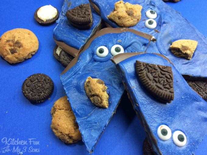 Chocolate Cookie Monster Bark