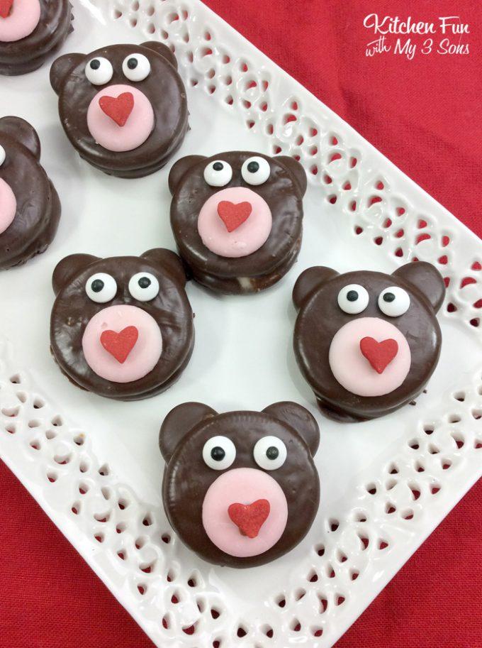 Valentine Teddy Bear Oreos