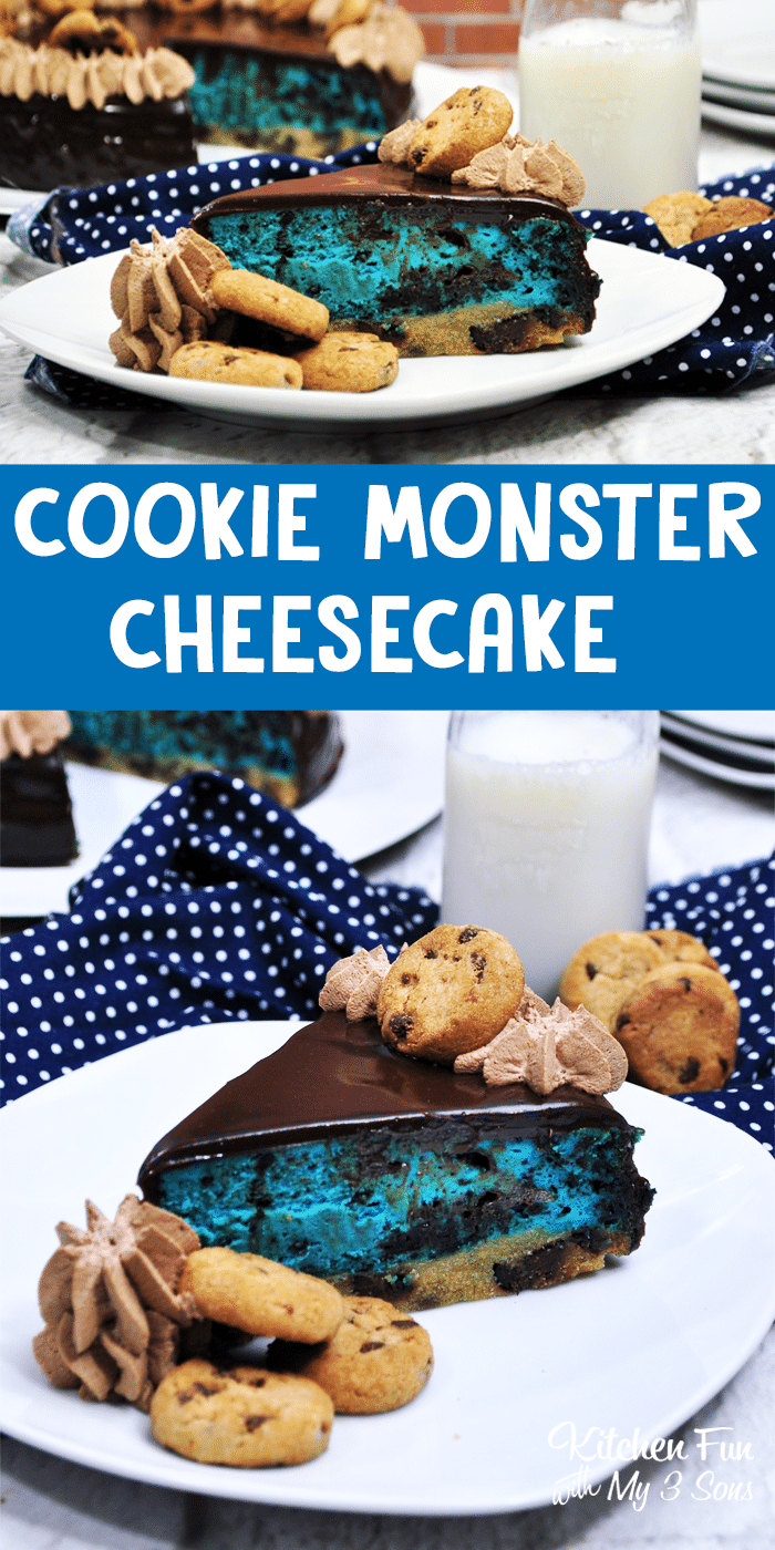 Cookie Monster Cheesecake